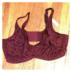 Victoria Secret maroon lace bra